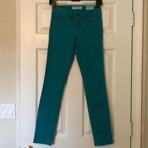 Guess teal skinny jeans